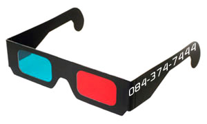 3D-glasses Black Cardboard